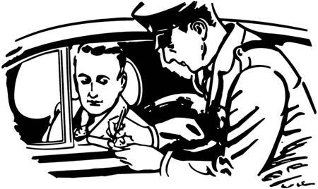 チケットを書く警官します。