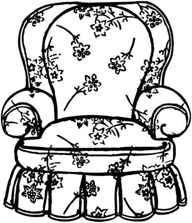 Cozy Arm Chair Vector