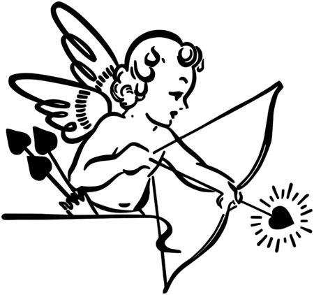 Cupid Shooting Arrow Illustration