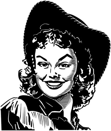 40s: Cute Cowgirl 4 Illustration