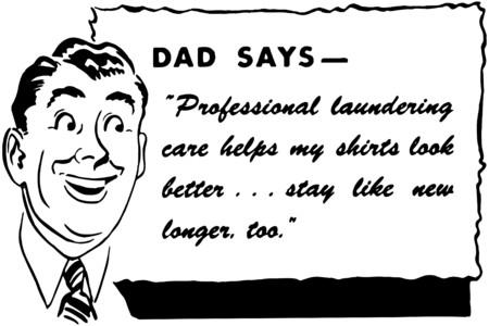 americana: Dad Says Illustration