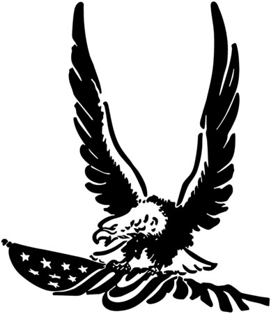 Defiant American Eagle Vector