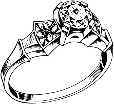 Diamond Ring 1 向量圖像