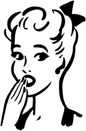 gals: Dismayed Woman Illustration