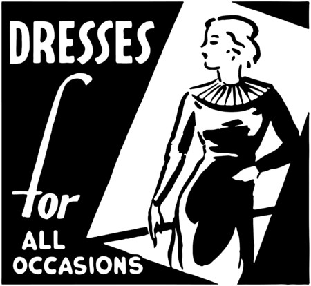 Dresses For All Occasions Stock Illustratie