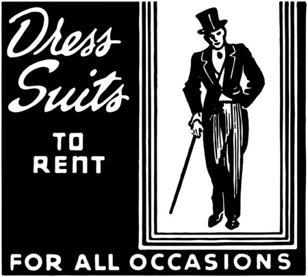 Dress Suits To Rent Vector