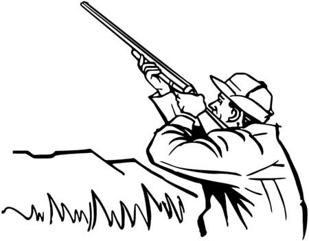 stalking: Duck Hunter Illustration