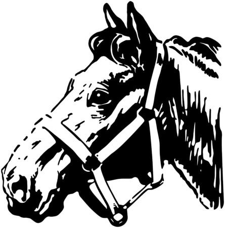 trotting: Farm Horse Illustration