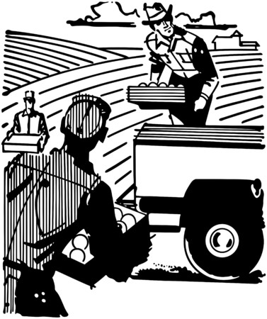 crates: Farm Workers Illustration