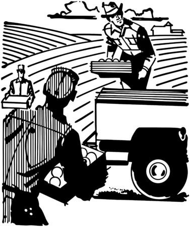 pickups: I lavoratori agricoli Vettoriali