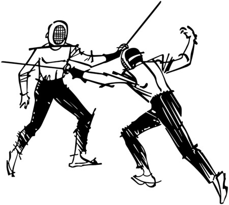 tough man: Fencing Illustration