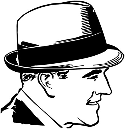 Fifties Guy With Hat Stock Illustratie