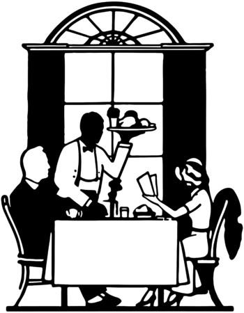 dinners: Fine Dining Illustration