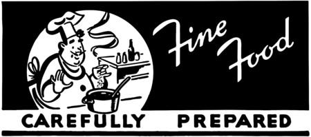Fine Food Carefully Prepared Illusztráció