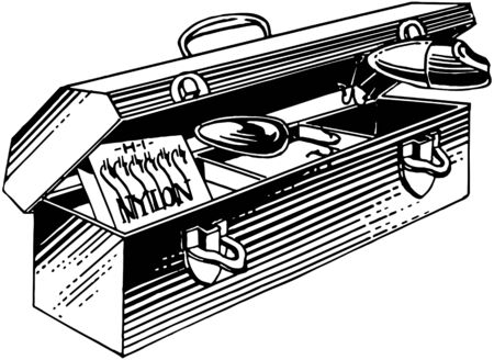 tackle box: Fishing Tackle Box Illustration