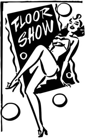 Floor Show Banner Stock Vector - 28333689