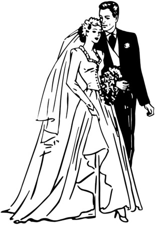 40s: Bride And Groom