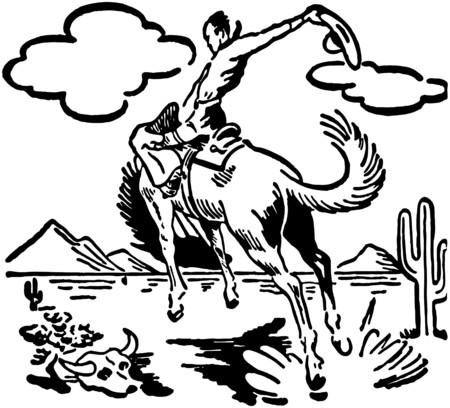 bucking bronco: Bucking Bronco 2 Illustration