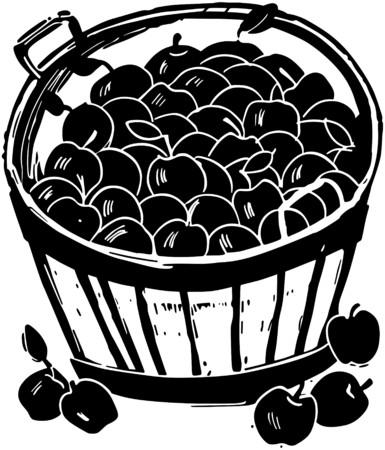 grocers: Bushel Of Apples Illustration