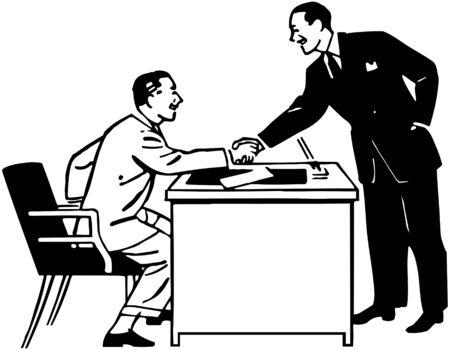 handshakes: Business Transaction Illustration
