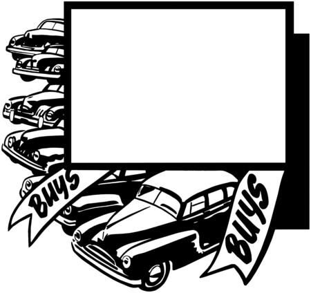 car show: Buys Buys Illustration