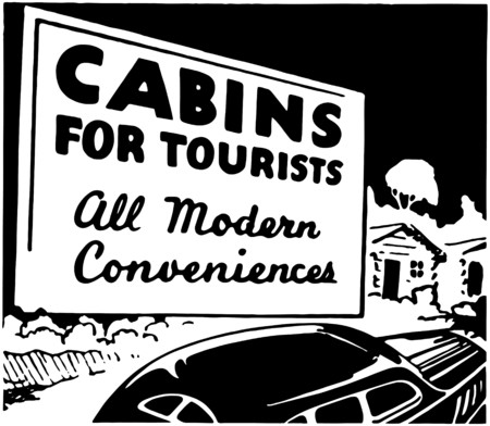 Cabins For Tourists Vector