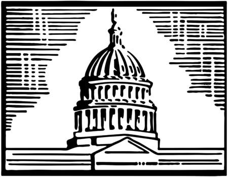 capitol hill: Capitol Building Illustration