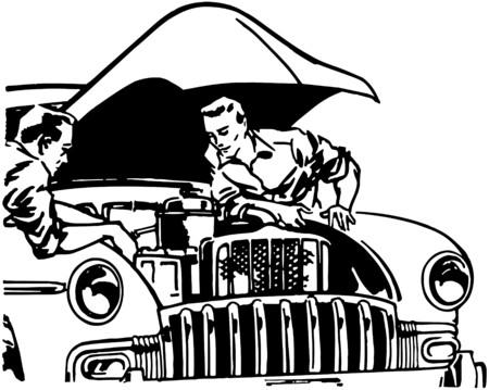 Car Tune Up Illustration