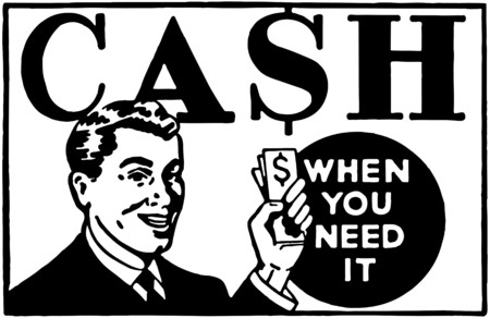 advertising signs: Cash When You Need It 3 Illustration