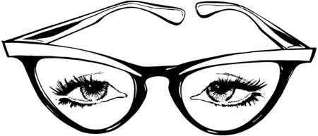 ojo de gato: Gafas de ojo de gato Vectores