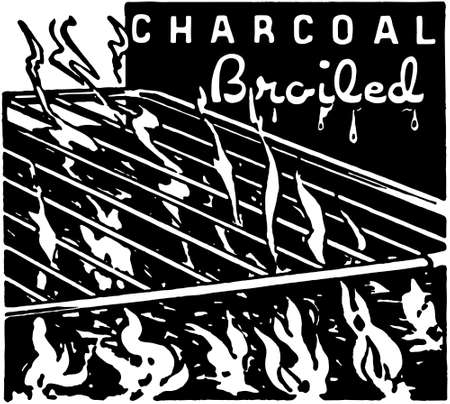 Charcoal Broiled 矢量图像