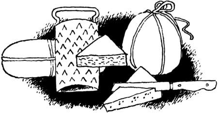brie: Kaas Groep Stock Illustratie