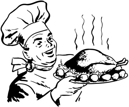 dinners: Chef With Roast Poultry