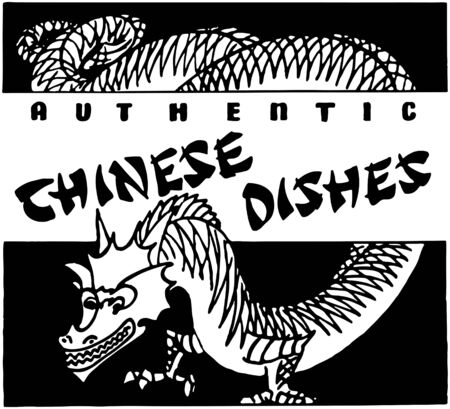 dinners: Chinese Dishes Illustration