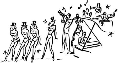 Chorus Line Stock Vector - 28334224