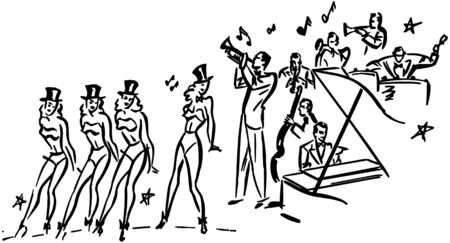 galas: Chorus Line Illustration
