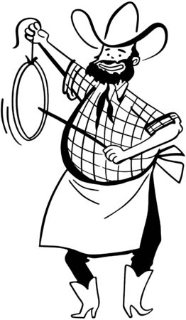 Chuck Wagon Cook Vector