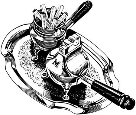 prata: Cigarros e prata Isqueiro