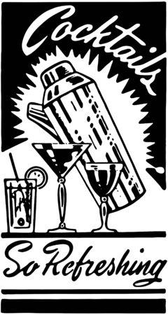 Cocktails 3 Иллюстрация