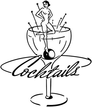Cocktails Bannière Banque d'images - 28334369