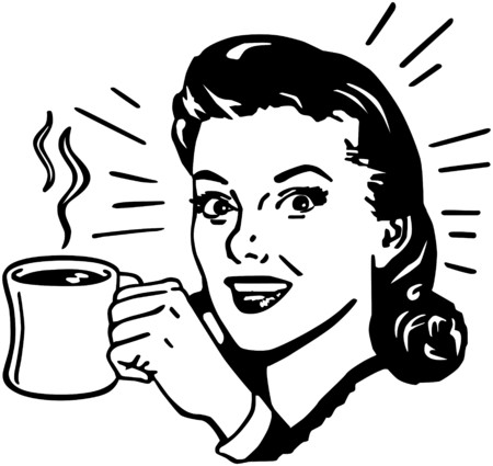 Coffee Gal Stock Illustratie