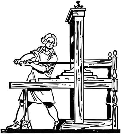 colonial: Colonial Printing Press