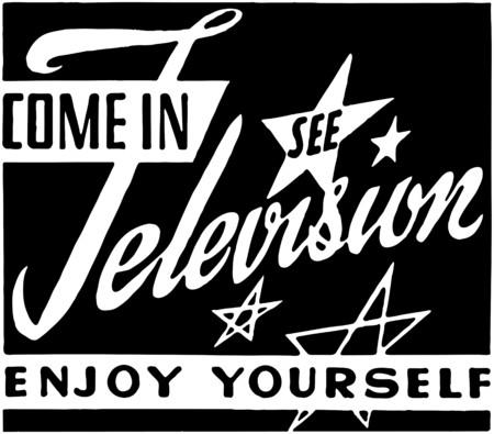 Come In See Television Vector