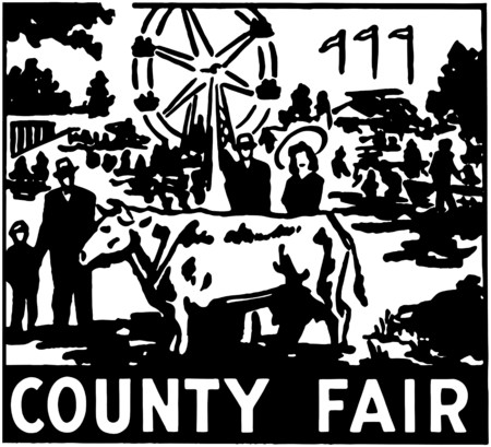 fairs: County Fair Illustration