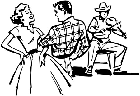 square dancing: Couple Square Dancing