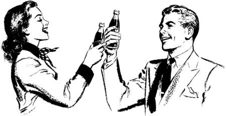 soda pop: Couple Toasting