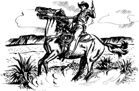 reins: Cowboy On Horseback