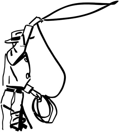 holster: Cowboy Throwing Lasso