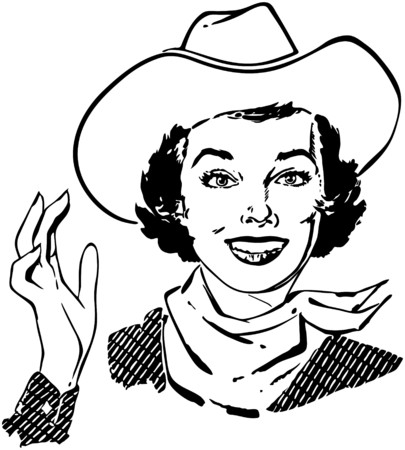 gals: Cowgirl Waving