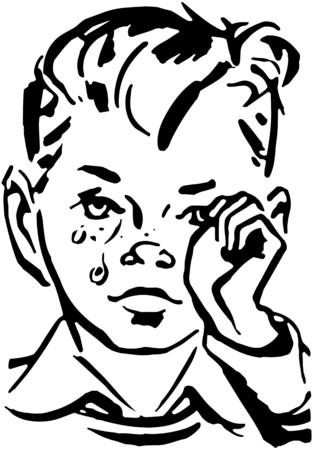 Crying Boy Illustration
